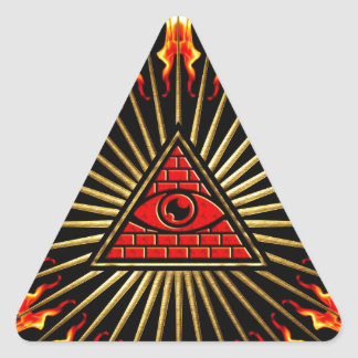Allsehendes eye of God, pyramid, planning Triangle Sticker