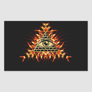 Allsehendes eye of God, pyramid, planning Rectangular Stickers