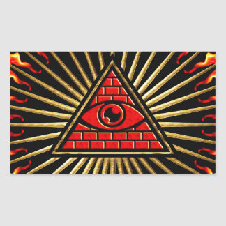 Allsehendes eye of God, pyramid, planning Rectangle Sticker