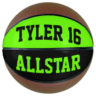 Allstar Black and Dayglow Green Basketball