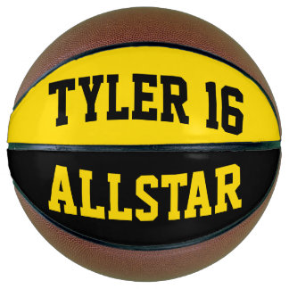 Allstar Black and Dayglow Yellow Basketball
