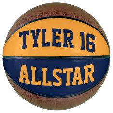 Allstar Blue Gold Basketball at Zazzle