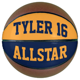 Allstar Blue Gold Basketball