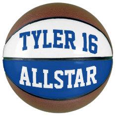 Allstar Blue White Basketball at Zazzle