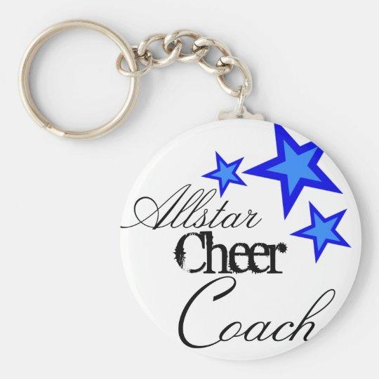 allstar cheer coach keychain