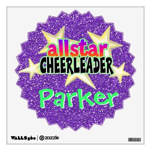 allstar cheerleader personalized vinyl wall art wall personalized heart wall stickers vinyl decoration viart
