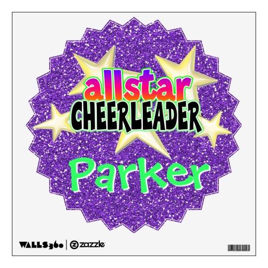 Allstar Cheerleader Personalized Vinyl Wall Art Wall Sticker ...