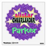Allstar Cheerleader Personalized Vinyl Wall Art Room Sticker