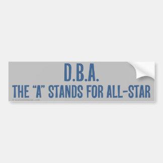 Allstar DBA Bumper Sticker