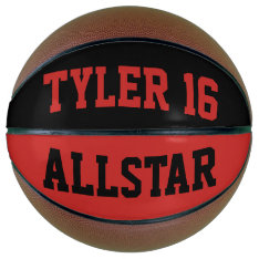 Allstar Red And Black Basketball at Zazzle
