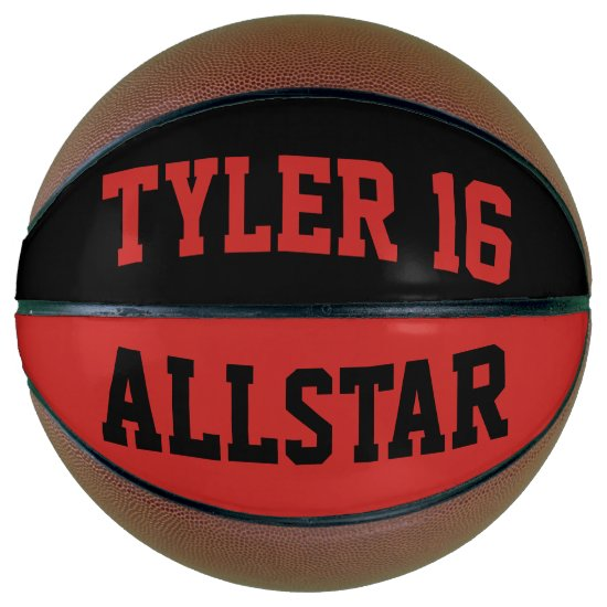 Allstar Red and Black Basketball