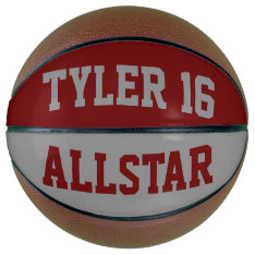 Allstar Red And Gray Basketball at Zazzle