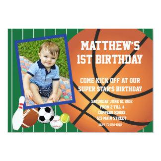 Allstar sports Basketball Birthday Invitation