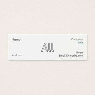 AllStruck style brand business cards (mini)