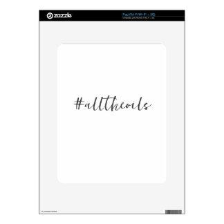 #alltheoils tablet skin skin for iPad