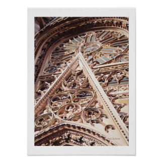 """Allure"" Church Architecture Watercolor Poster"