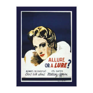 Allure or a Lure? Canvas Print