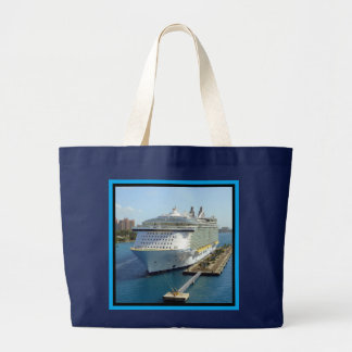 Alluring Bow 2 Cruise Ship Large Tote Bag