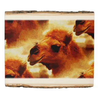 Alluring Camel Face Wood Panel