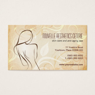 Alluring Curves Spa Appointment Business Card