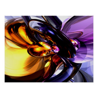 Alluring Grace Abstract Poster