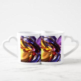 Alluring Grace Pastel Abstract Coffee Mug Set