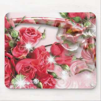 Alluring Pink Roses Collection Mouse Pad