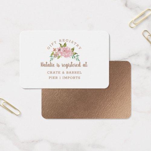 Alluring Rose Vintage Gift Registry Insert Card