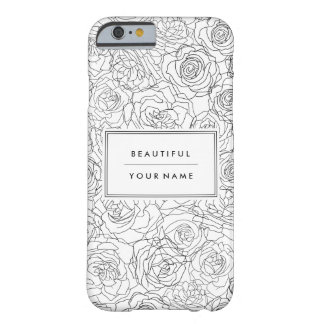 Alluringly floral - Customize Barely There iPhone 6 Case