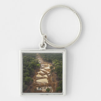 Alluvial Gold Mining. Rainforest, Guyana. Key Chain