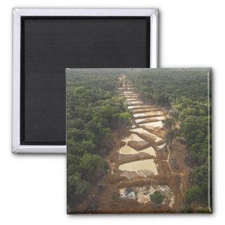 Alluvial Gold Mining. Rainforest, Guyana. Magnet