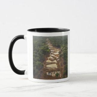 Alluvial Gold Mining. Rainforest, Guyana. Mug