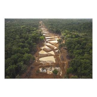 Alluvial Gold Mining. Rainforest, Guyana. Photo Print