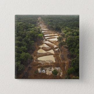 Alluvial Gold Mining. Rainforest, Guyana. Pinback Button