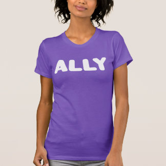 Ally Big Letters LGBT Straight Ally Spirit Day T-Shirt