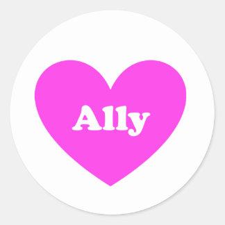 Ally Classic Round Sticker
