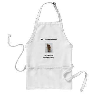 ally cropped, OK, I chased the dee... - Customized Adult Apron