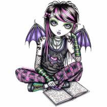 emo, gothic, fairy, faery, faerie, fairies, fae, pixie, kids, study, school, tattoo, myka, jelina, fantasy, art, fine, magnet, characters, Photo Sculpture with custom graphic design