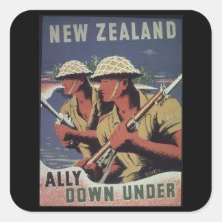 Ally_down_under-_-_NARA_Propaganda Poster Square Sticker