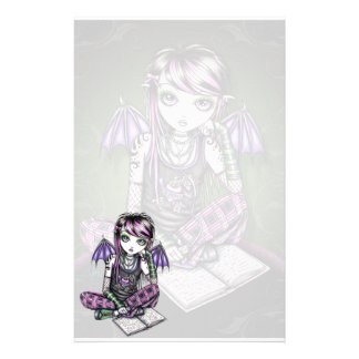 """Ally"" Emo School Girl Fairy Art Stationery"
