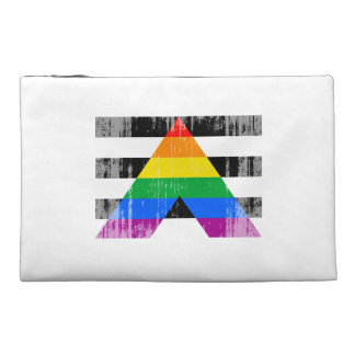 ALLY FLAG DISTRESSED TRAVEL ACCESSORY BAG