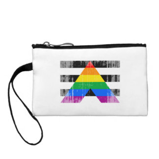 ALLY FLAG DISTRESSED COIN PURSE