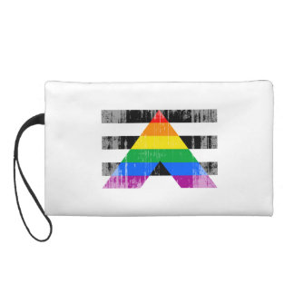 ALLY FLAG DISTRESSED WRISTLET PURSES