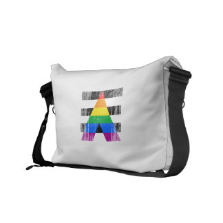 ALLY FLAG DISTRESSED COURIER BAG