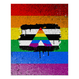 ALLY FLAG DRIPPING POSTER