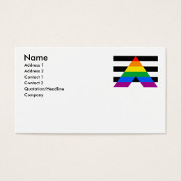 ALLY FLAG ORIGINAL BUSINESS CARD