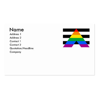 ALLY FLAG ORIGINAL Double-Sided STANDARD BUSINESS CARDS (Pack OF 100)