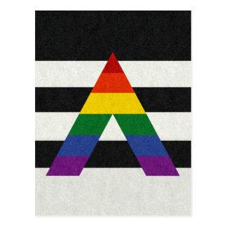 Ally Flag Postcard