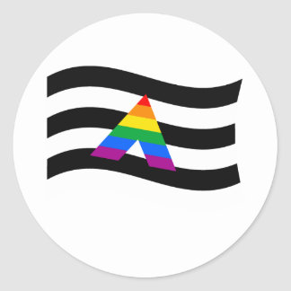 ALLY FLAG WAVING CLASSIC ROUND STICKER