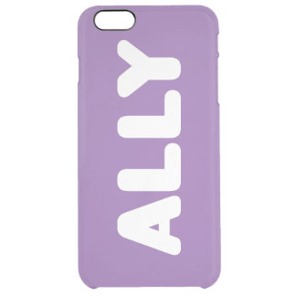 Ally LGBT Spirit Day Customizable iPhone 6s Plus Clear iPhone 6 Plus Case